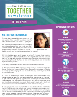October 2019 | Better Together Newsletter